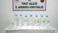 Tokat'ta 35 litre sahte içki ele geçirildi