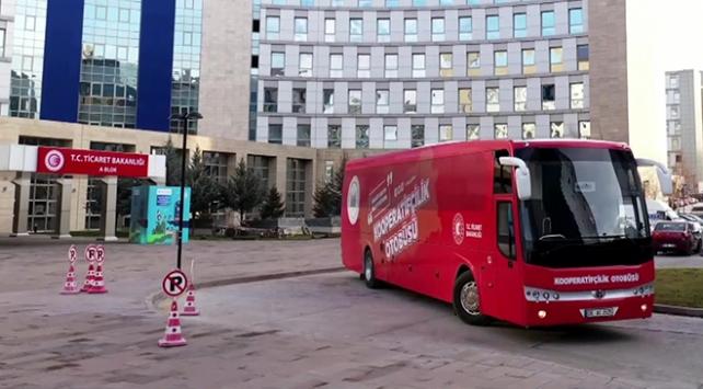 Bakanlığın Kırmızı otobüsü 12 ilde kooperatifçiliği anlatacak