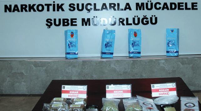 Çay paketleri arasında uyuşturucu ele geçirildi