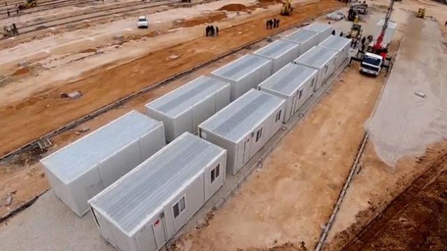 Elazığ'da geçici konaklama merkezi kurulum çalışmaları devam ediyor