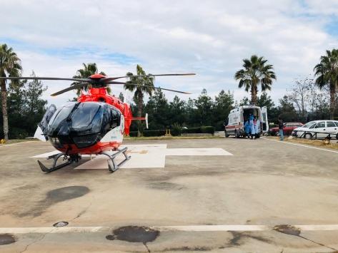 """Ambulans helikopter 14 aylık """"Tuğçe"""" için havalandı"""