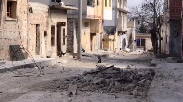 TRT Haber bombardıman altındaki Etarib'de