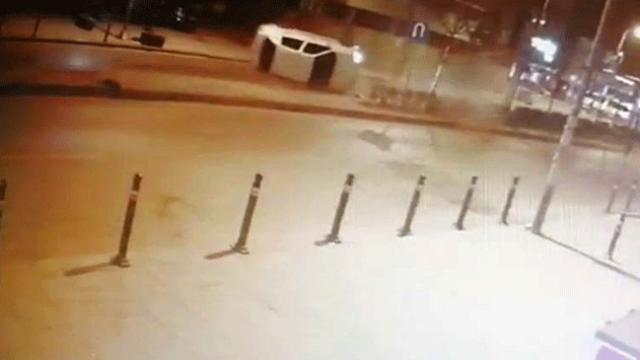Maltepe'de takla atan otomobil kameralara yansıdı
