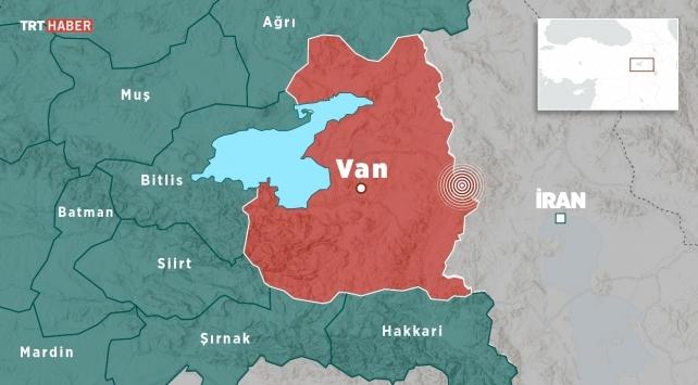 İran sınırında 4,1 büyüklüğünde deprem