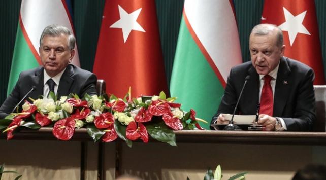 Cumhurbaşkanı Erdoğan: Özbekistan ile ticaretimizi 5 milyar dolara çıkarmayı hedefliyoruz