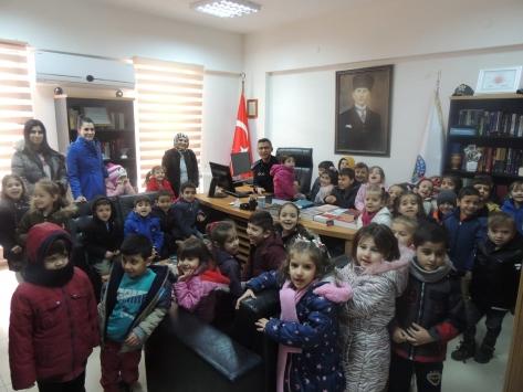 Osmanelide anaokulu öğrencilerinden emniyet müdürlüğüne ziyaret