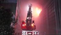 İstanbul'da tekstil firmasında yangın