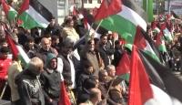 Trump'ın Filistin'i parçalama planı Gazze'de protesto edildi