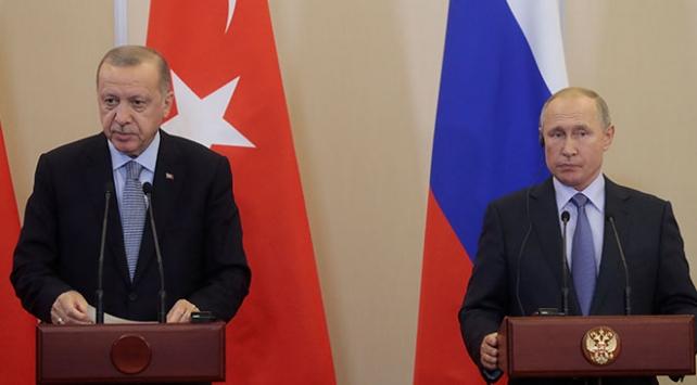 Cumhurbaşkanı Erdoğan, Putin ile İdlibi görüştü