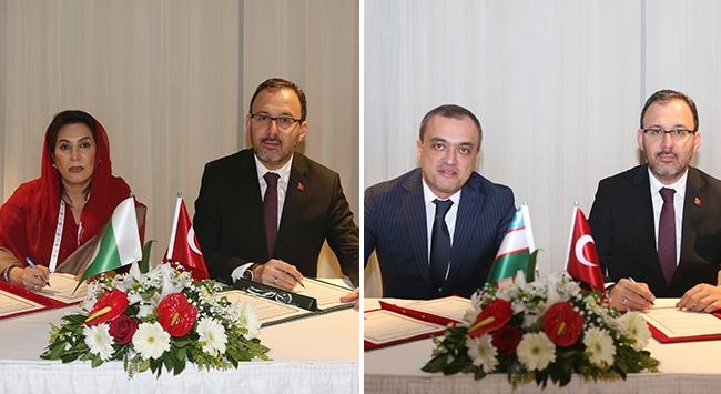 Gençlik ve Spor Bakanlığı iki ülke ile iş birliği protokolü imzaladı