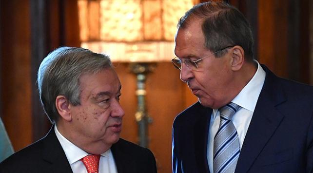 Lavrov ile Guterres Suriyeyi görüştü