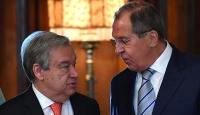 Lavrov ile Guterres Suriye'yi görüştü