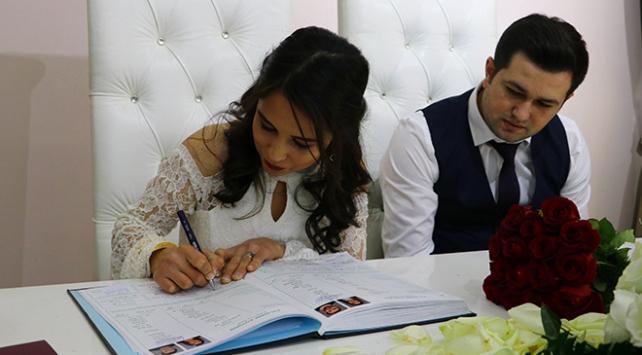 2019da 541 bin 424 çift evlendi