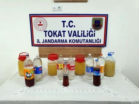 Tokatta 22 litre sahte içki ele geçirildi