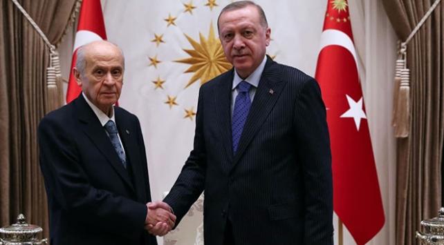 Cumhurbaşkanı Erdoğan Bahçeli ile görüştü