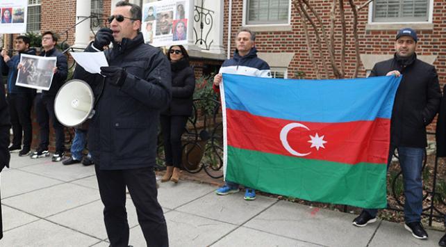 Washingtonda Hocalı Katliamı protesto edildi
