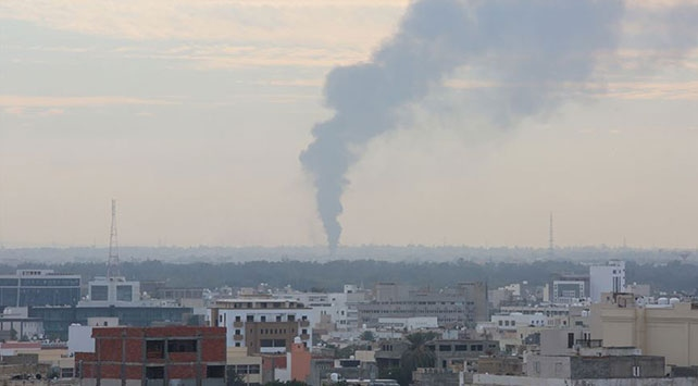 UMH askeri güçleri Trablusun güneyindeki 11 Hafter mevzisini vurdu