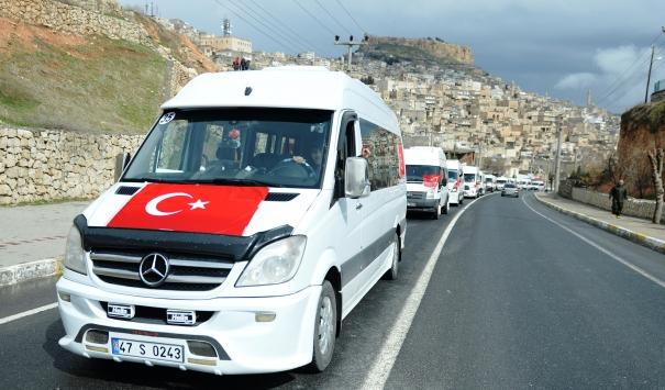 Mardin halkı Mehmetçik için tek yürek oldu