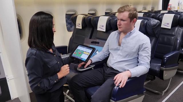 Uçaktaki hastaların bilgisini doktorlara zamanında ileten cihaz
