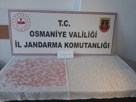 Osmaniyede 2 bin 921 uyuşturucu hap ele geçirildi, 3 kişi tutuklandı