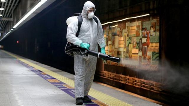 Marmaray ve metrobüsler dezenfekte ediliyor