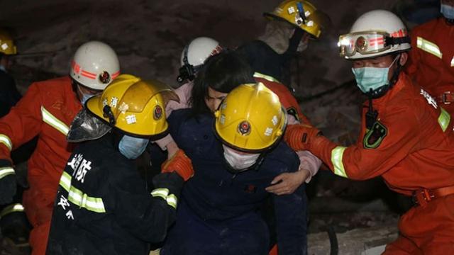 Çin'de otel çöktü: 43 kişi enkazdan çıkarıldı
