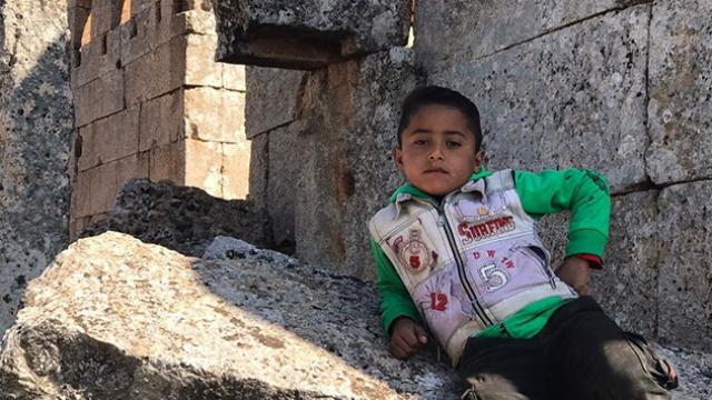 Suriye'de savaştan kaçan siviller, tarihi mekanlarda yaşıyor