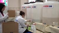 Okulların dezenfektan ihtiyacını meslek lisesi öğrencileri karşılıyor
