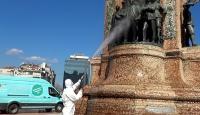 Taksim ve İstiklal'de dezenfekte çalışması