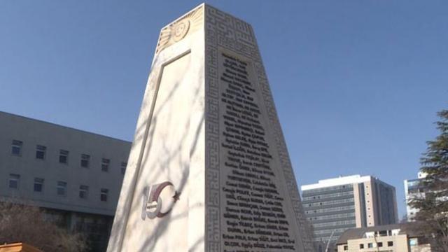 15 Temmuz kahramanlarının isimleri Şehitler Anıtı'nda