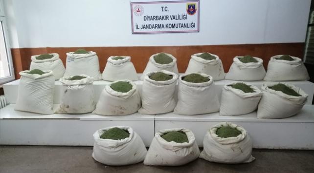 Diyarbakırda 378 kilogram esrar ele geçirildi