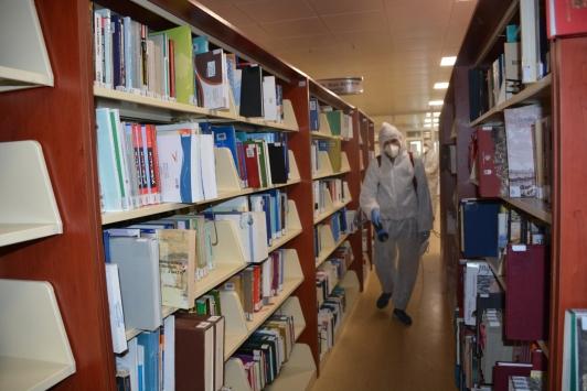 Düzce Üniversitesi koronavirüse karşı dezenfekte edildi