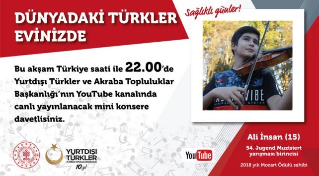 YTBden yurt dışındaki vatandaşlar için Youtubedan mini konser