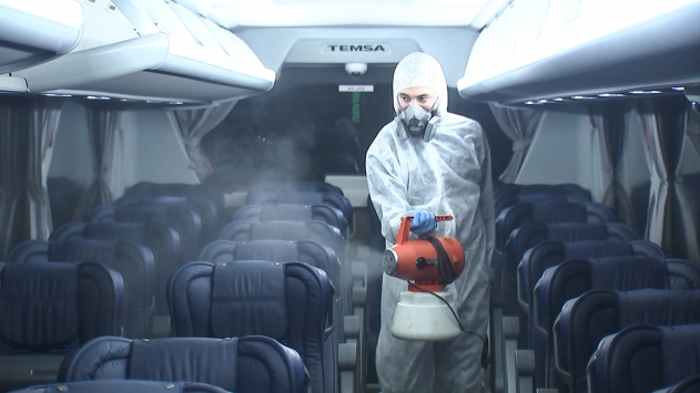 Havaist araçlarında dezenfekte sıklığı artırıldı