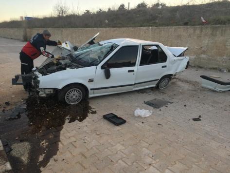 Bilecikte trafik kazası: 2 yaralı