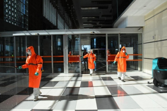 Balıkesir Koca Seyit Havalimanı dezenfekte edildi