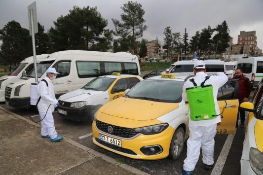Nizipte toplu taşıma araçları ve iş yerleri dezenfekte ediliyor