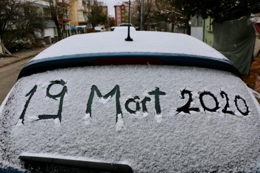 Eskişehirde kar yağışı