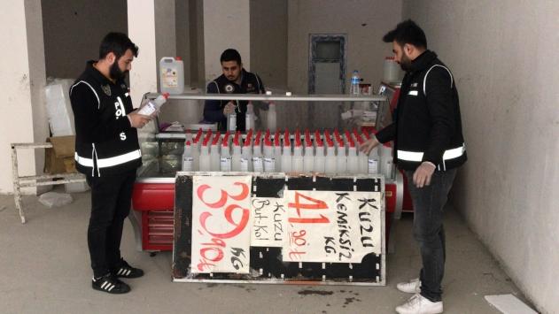 Adanada 3 bin 118 kilogram sahte dezenfektan ele geçirildi