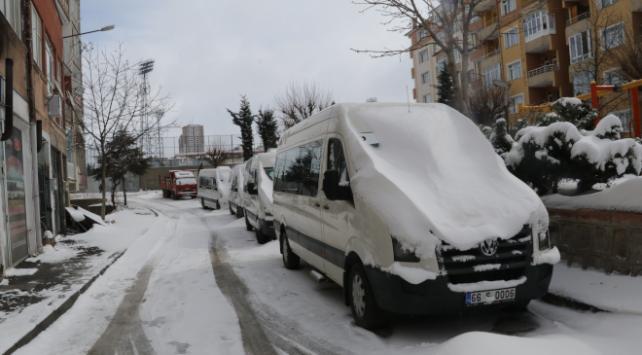 5 ilde kar yağışı etkili oldu