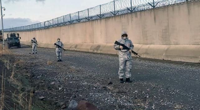 Hudut birliklerinde koronavirüs önlemi