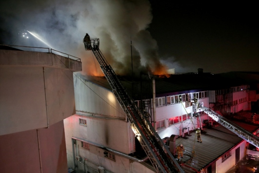 Esenyurtta iş yeri yangını
