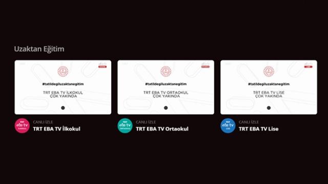 TRT EBA TV internetten de takip edilebilecek