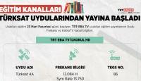 Eğitim kanalları Türksat uydularından yayına başladı