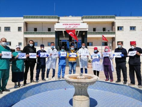 Suriyeli sağlık çalışanları halkı evlerinde kalmaya çağırdı