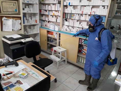 Balıkesirde 900 ton dezenfektan kullanıldı