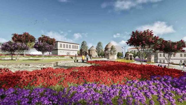 Erzurumun millet bahçesi tarihi Üç Kümbetleri cazibe merkezi haline getirecek