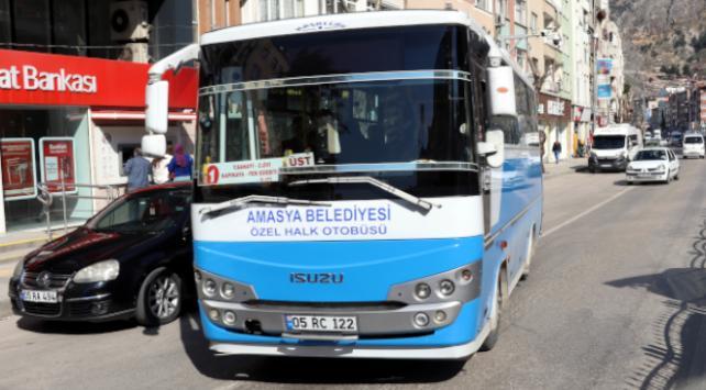 Amasyada sağlık çalışanlarına toplu taşıma ücretsiz