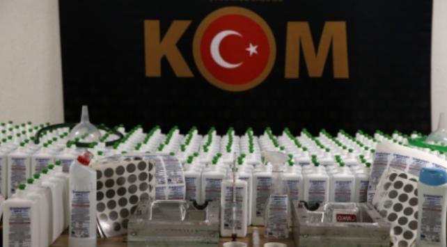 Ankarada sahte dezenfektan operasyonu