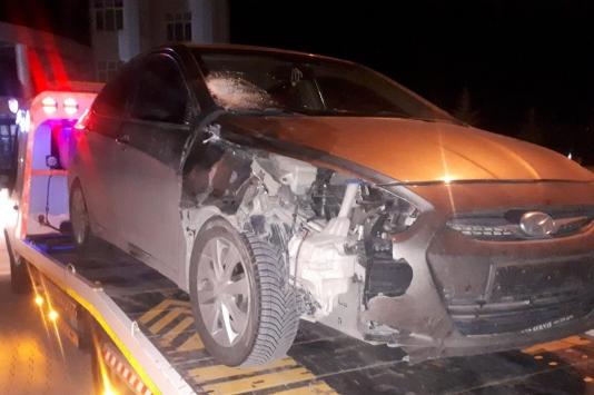 Konyada otomobilin çarptığı yaya ağır yaralandı